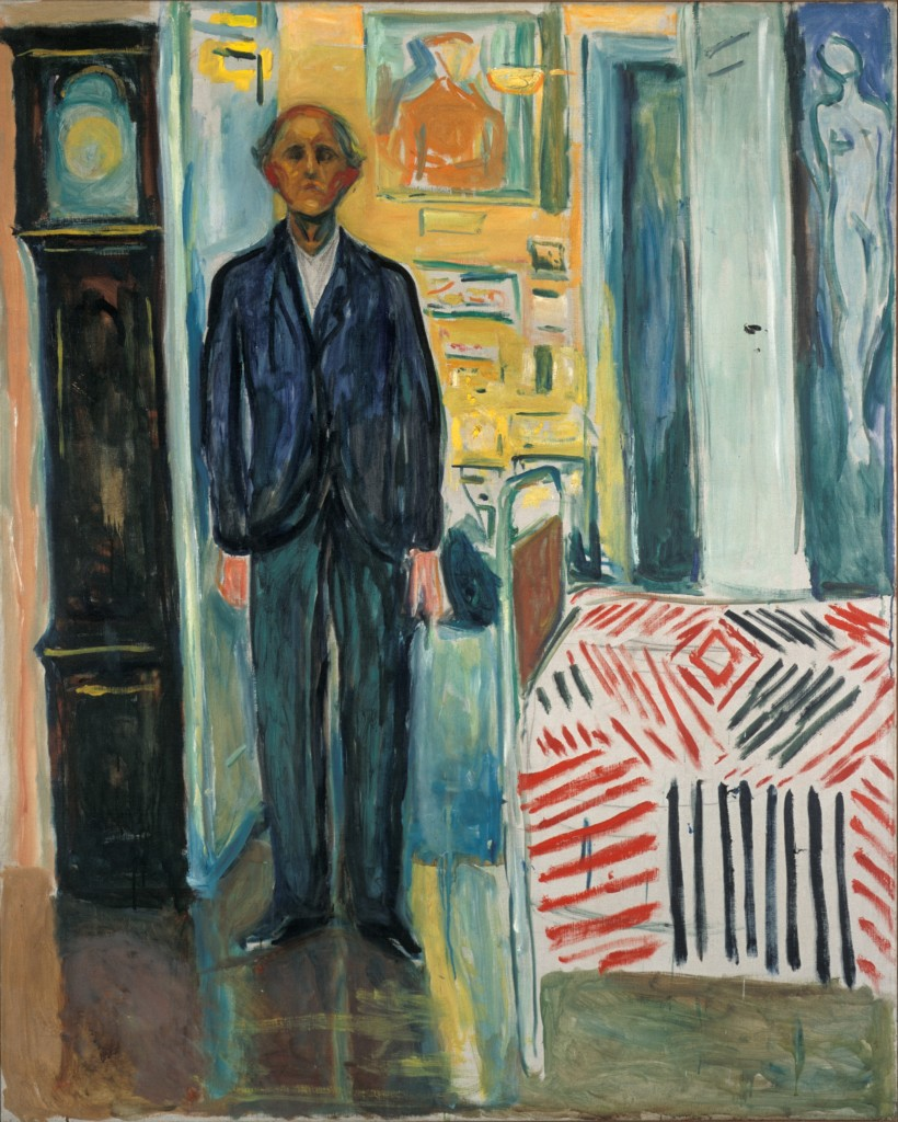 """Edvard Munch: """"Selbstbildnis. Zwischen Uhr und Bett"""", 1940–43 © Munch Museum"""