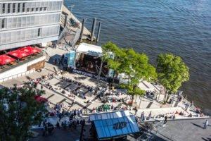 Elbjazz HafenCity Hamburg mit HfMT-Bühne