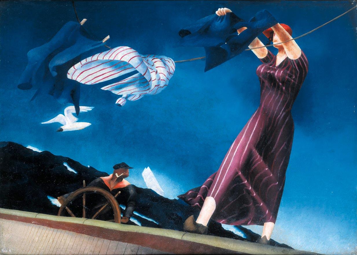 T. Lux Feininger (1910-2011) Skippers daughter, 1932 Öl auf Leinwand Privatbesitz