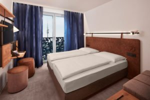 Muster-Doppelzimmer H2 Hotel München Olympiapark; Foto: ©H-Hotels.com